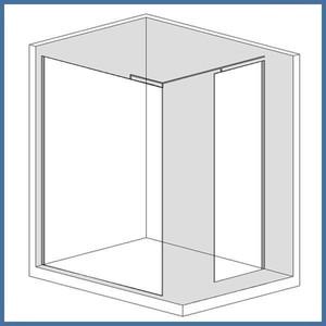"Walk-In Dusche ""Super L Plus"" 1200/900mm, Alu-Profil, Chromoptik – Bild 1"