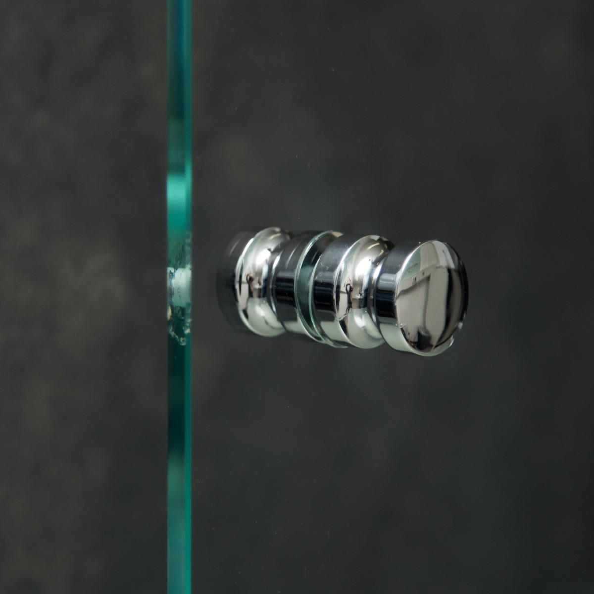"Duschtürknopf ""Duo S"", Paar, 30mm x 30mm Chrom"