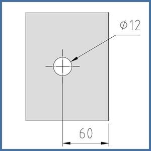 "Duschtürknopf ""Duo S"", Paar, 30mm x 30mm Chrom – Bild 4"