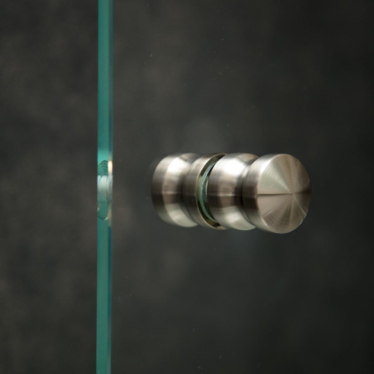 "Duschtürknopf ""Duo S"", Paar, 30mm x 30mm, VA-Finish"