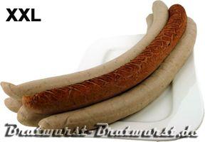 XXL Bratwurst 1,35 Kg im 5er Pak (1 Pak x 5 Stück x 270g) = 5 XXL Würstchen