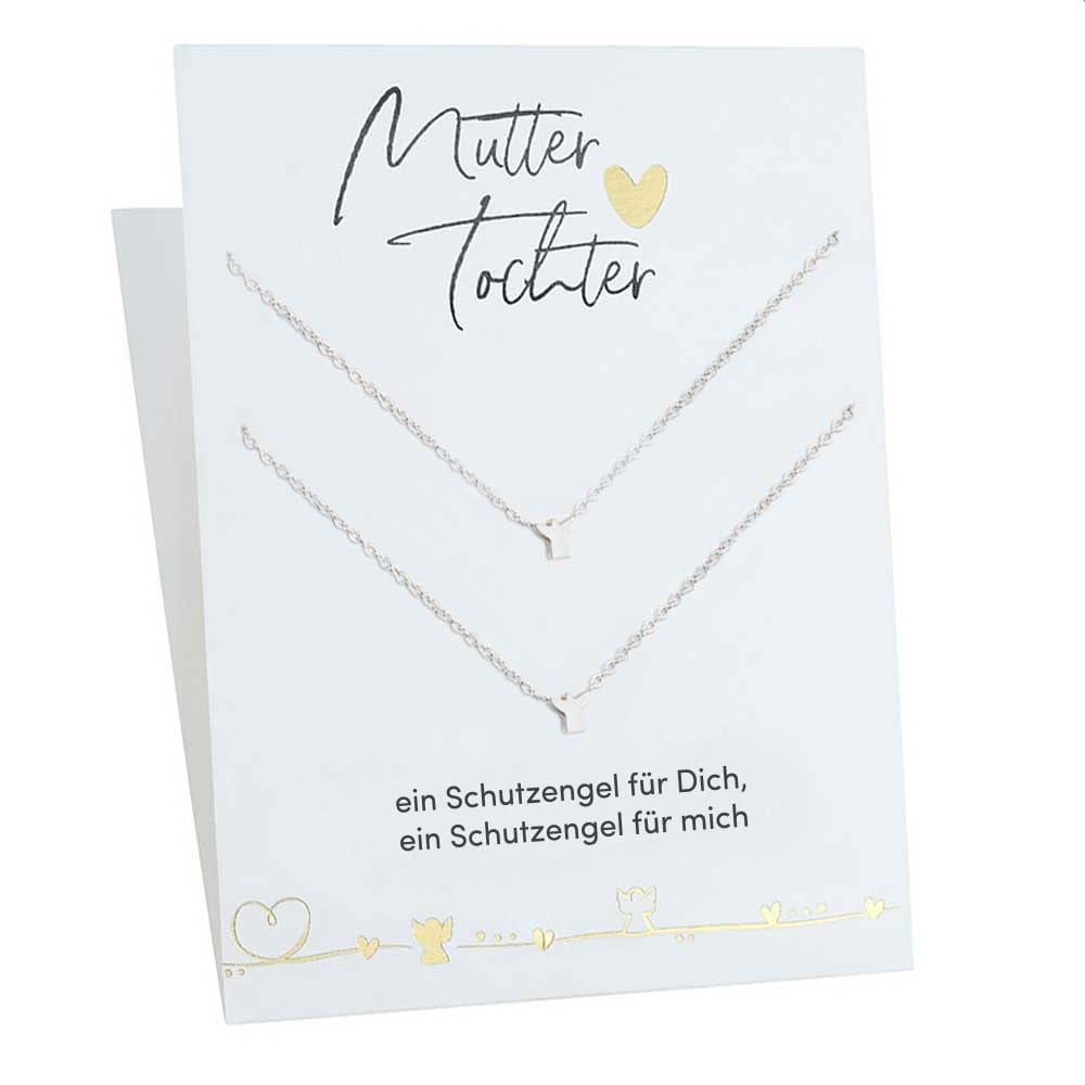 Schutz-Engel-Halsketten für Mutter & Tochter mit Geschenkkarte | Geschenke für Mama | Muttertag Geschenk | Geburtstagsgeschenke Mama