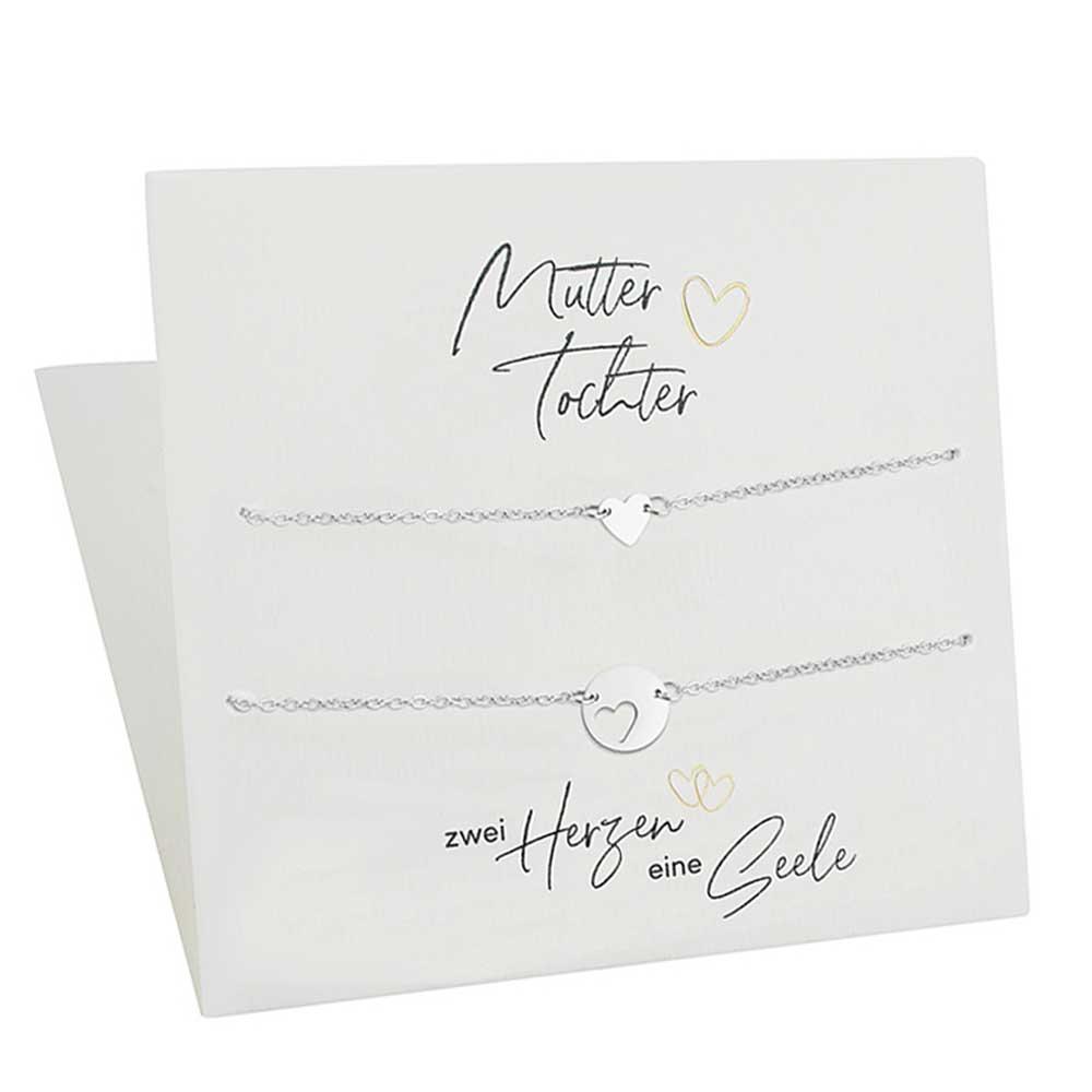 Herz-Armbänder für Mutter & Tochter mit Geschenkkarte   Freundschaftsarmband   Geschenke für Mama   Muttertag Geschenk   Geburtstagsgeschenke Mama