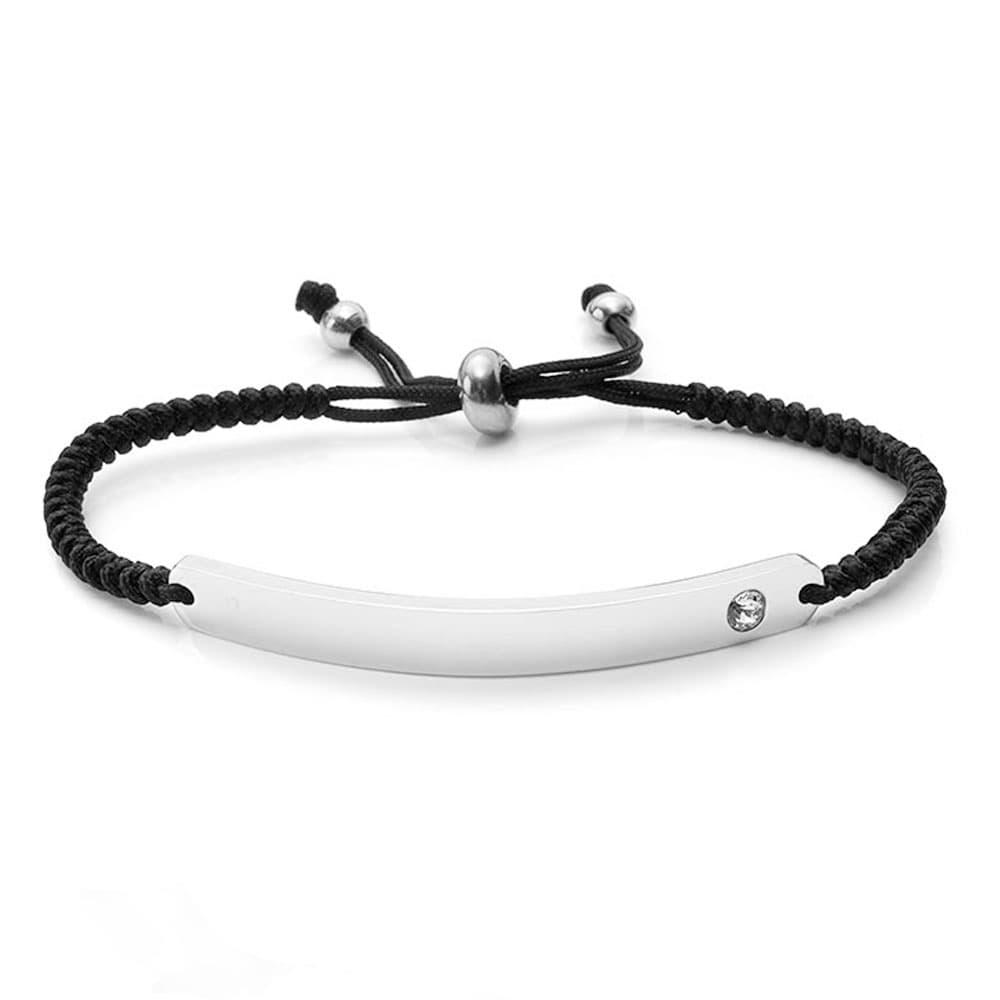 Armband für individuelle Wunschgravur - schwarz
