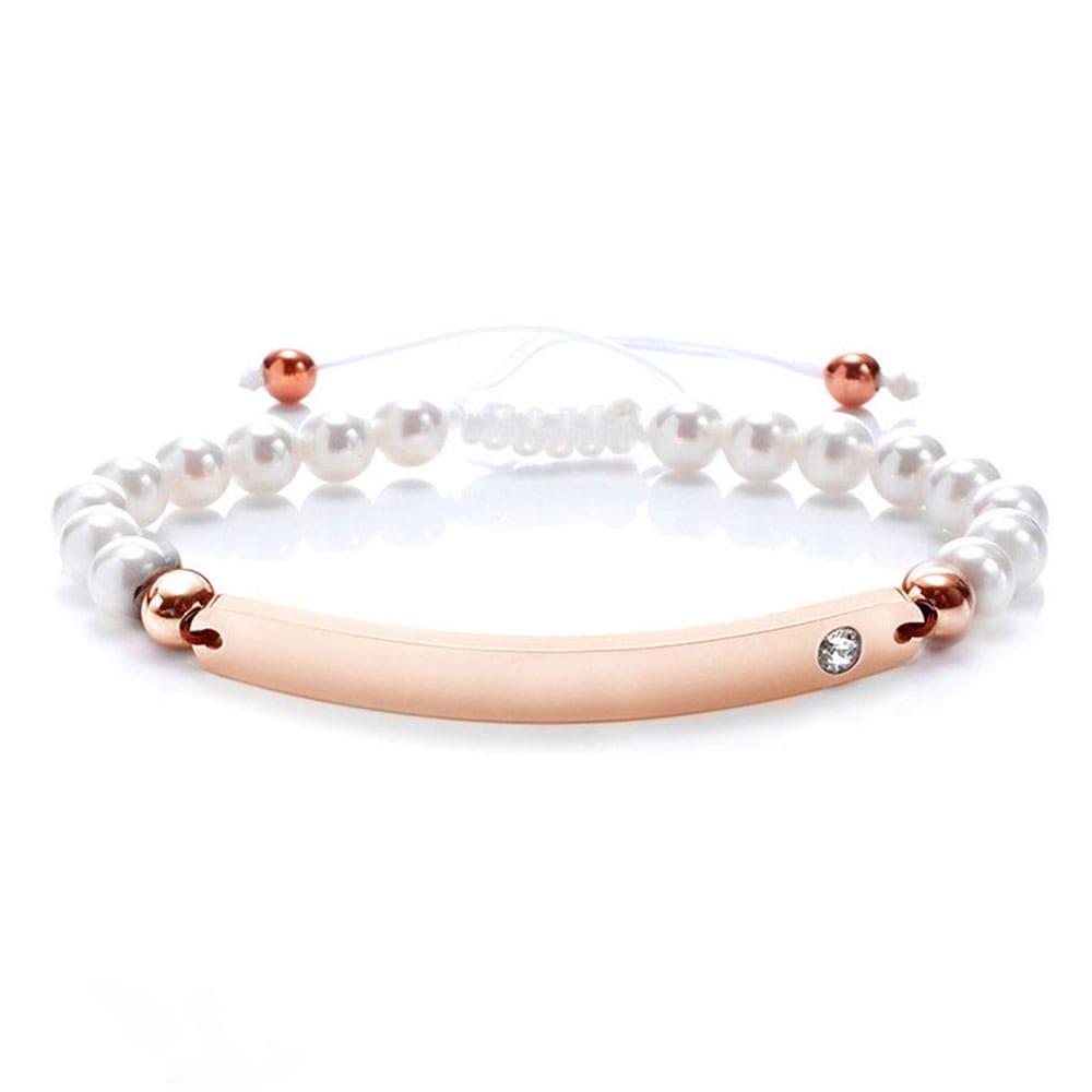 Perlen-Armband für individuelle Wunschgravur