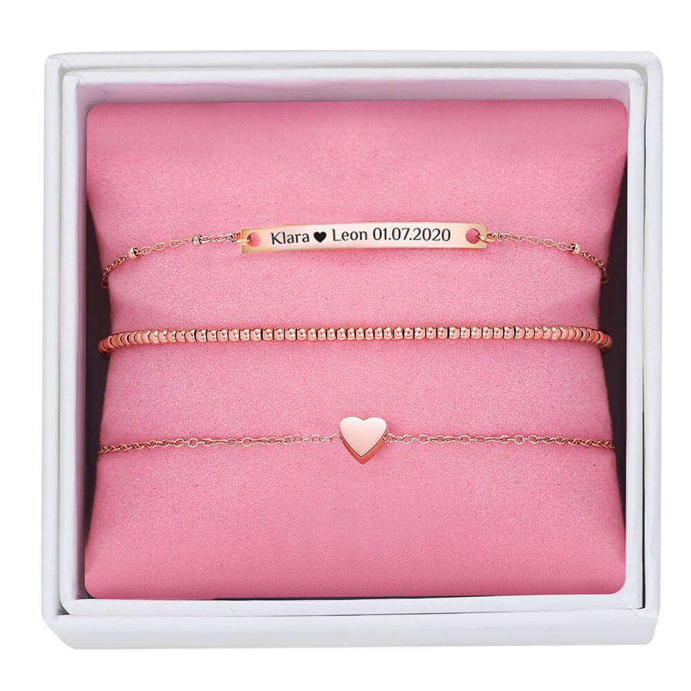 Armband-Set für eine individuelle Wunschgravur