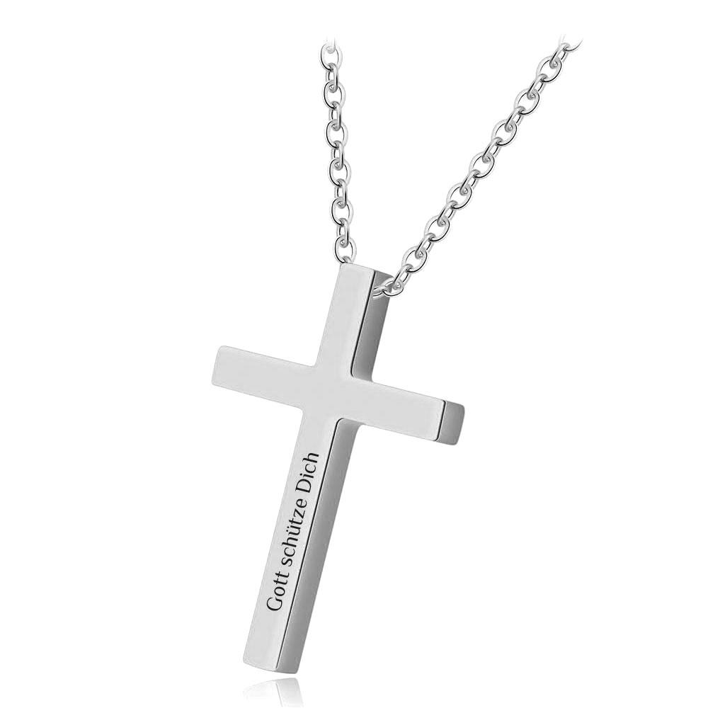 Für Damen & Herren: Halskette mit einem Gravur-Kreuz