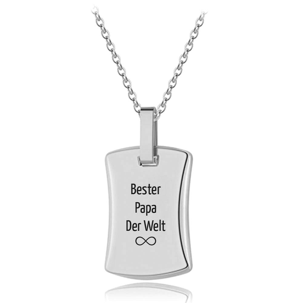 """Für Damen & Herren: Gravur-Halskette """"Botschaft"""""""