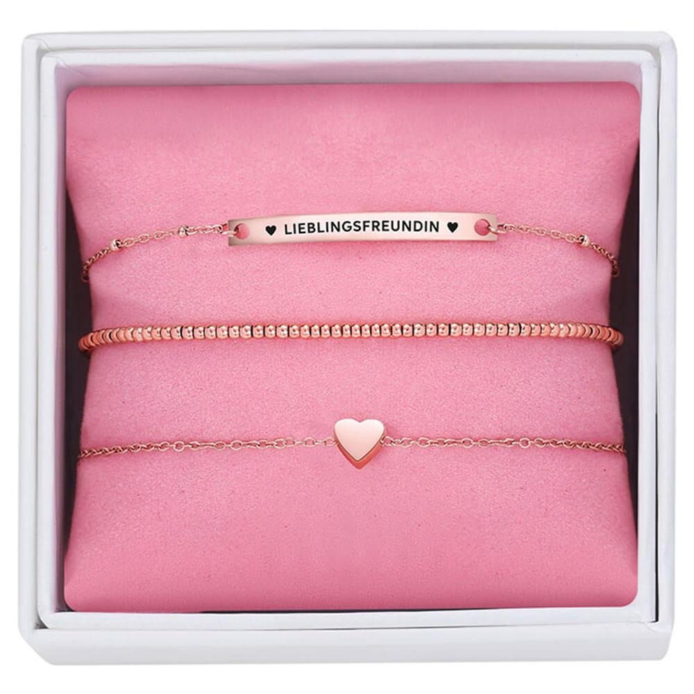Drei Armbänder als Set mit Geschenkbox & Gravur-Spruch