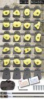Monkey Set  High School  gemischte Farben - 2,2m Klemmschnallengurt