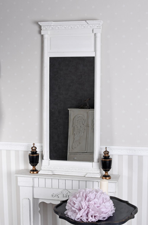 spiegel antik wandspiegel weiss trumeau spiegel shabby chic hallenspiegel 133cm ebay. Black Bedroom Furniture Sets. Home Design Ideas