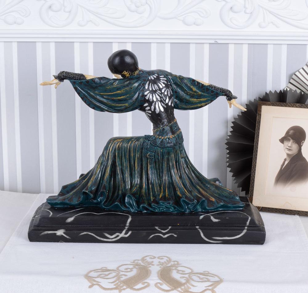 Art Deco Figur Frauenskulptur Tänzerin Thais Chiparus 20er Jahre Frauenfigur neu