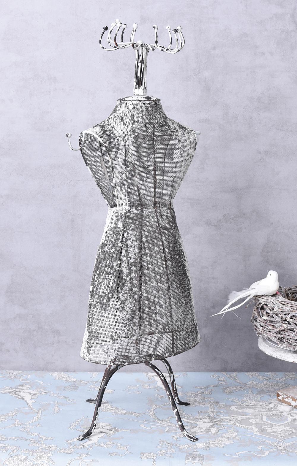 Schneiderpuppe weiss schaufensterb ste shabby chic for Rostige gartenartikel
