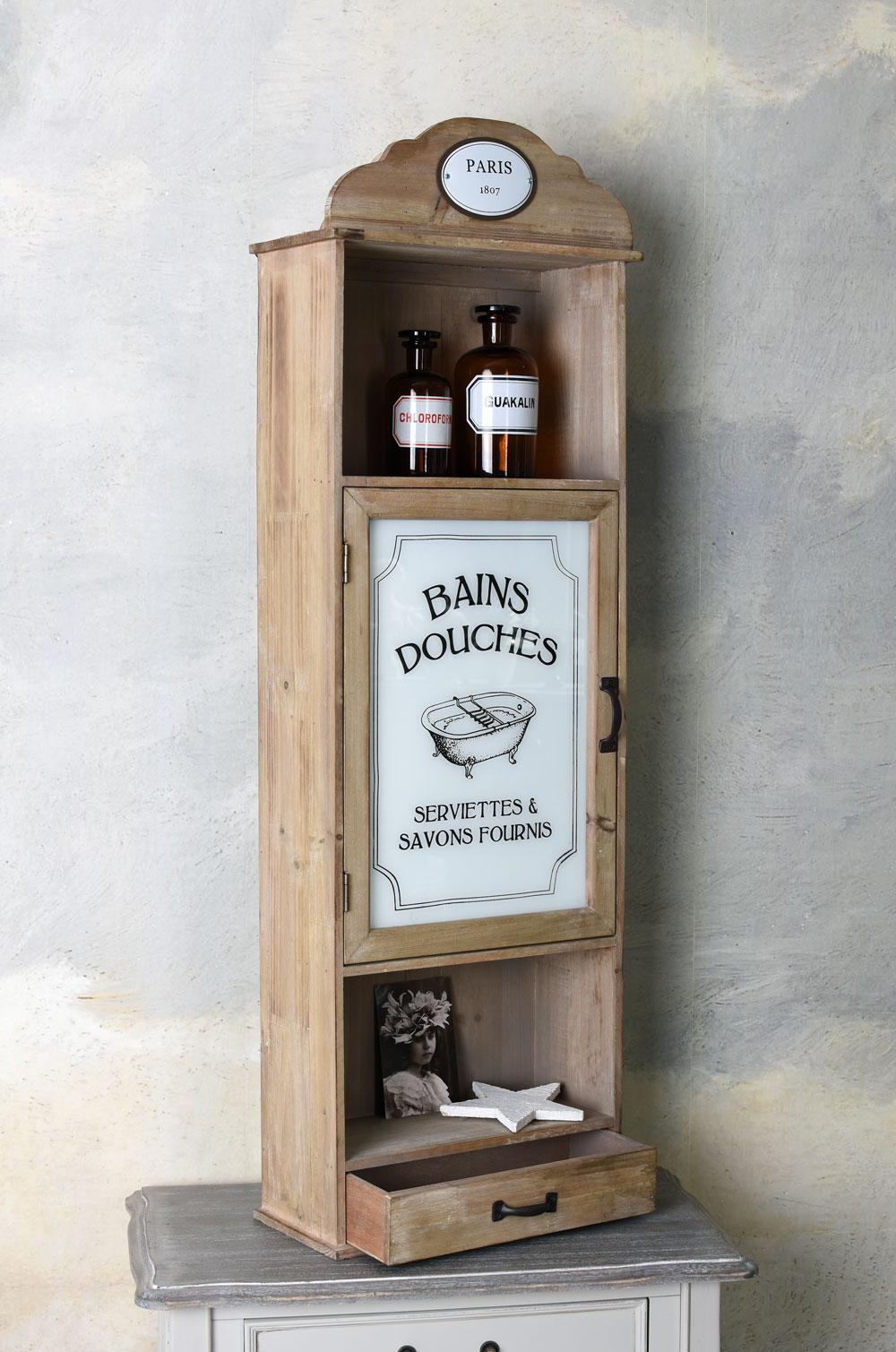 Französischer Badschrank Bad Hängeschrank Wandregal Medizinschrank Wandschrank