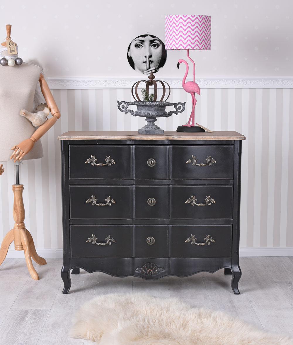 kommode barock barockkommode schwarz anrichte antik schubladenschrank schrank ebay. Black Bedroom Furniture Sets. Home Design Ideas