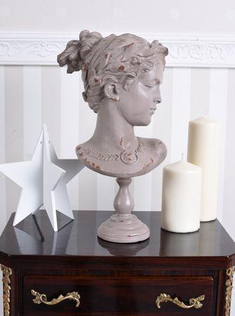 Detalles de Estilo Moderno Busto de Mujer Cabeza Vintage Muchacha Shabby  Chic
