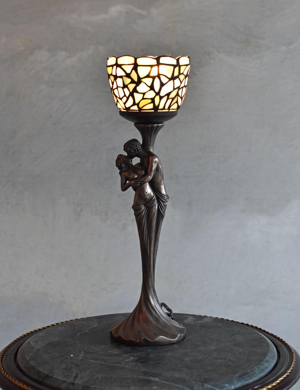 Tischleuchte Lampe Frauenfigur Elfenfigur Tischlampe Dekolampe Nachttischlampe