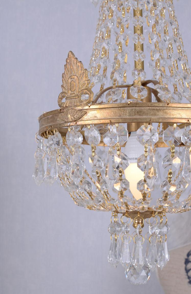 kronleuchter jugendstil deckenl ster shabby chic glaskristall lampe l ster neu ebay. Black Bedroom Furniture Sets. Home Design Ideas