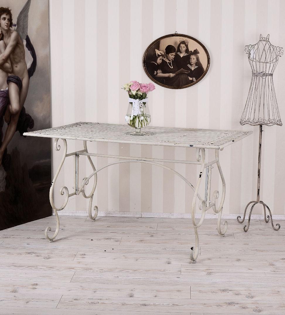 Table en Métal Shabby Chic de Jardin XXL Fer Balcon Terrasse | eBay