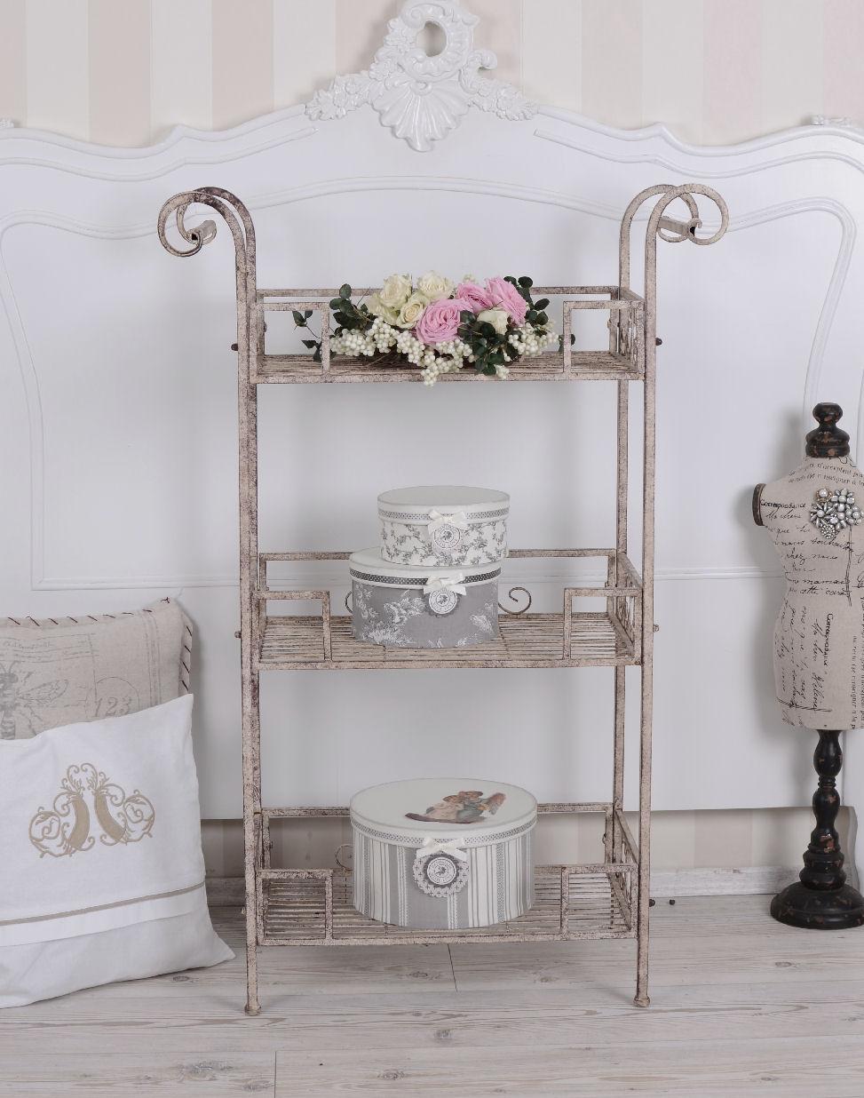 Details Zu Vintage Regal Servierwagen Landhaus Beistelltisch Shabby Chic Küchenregal Metall