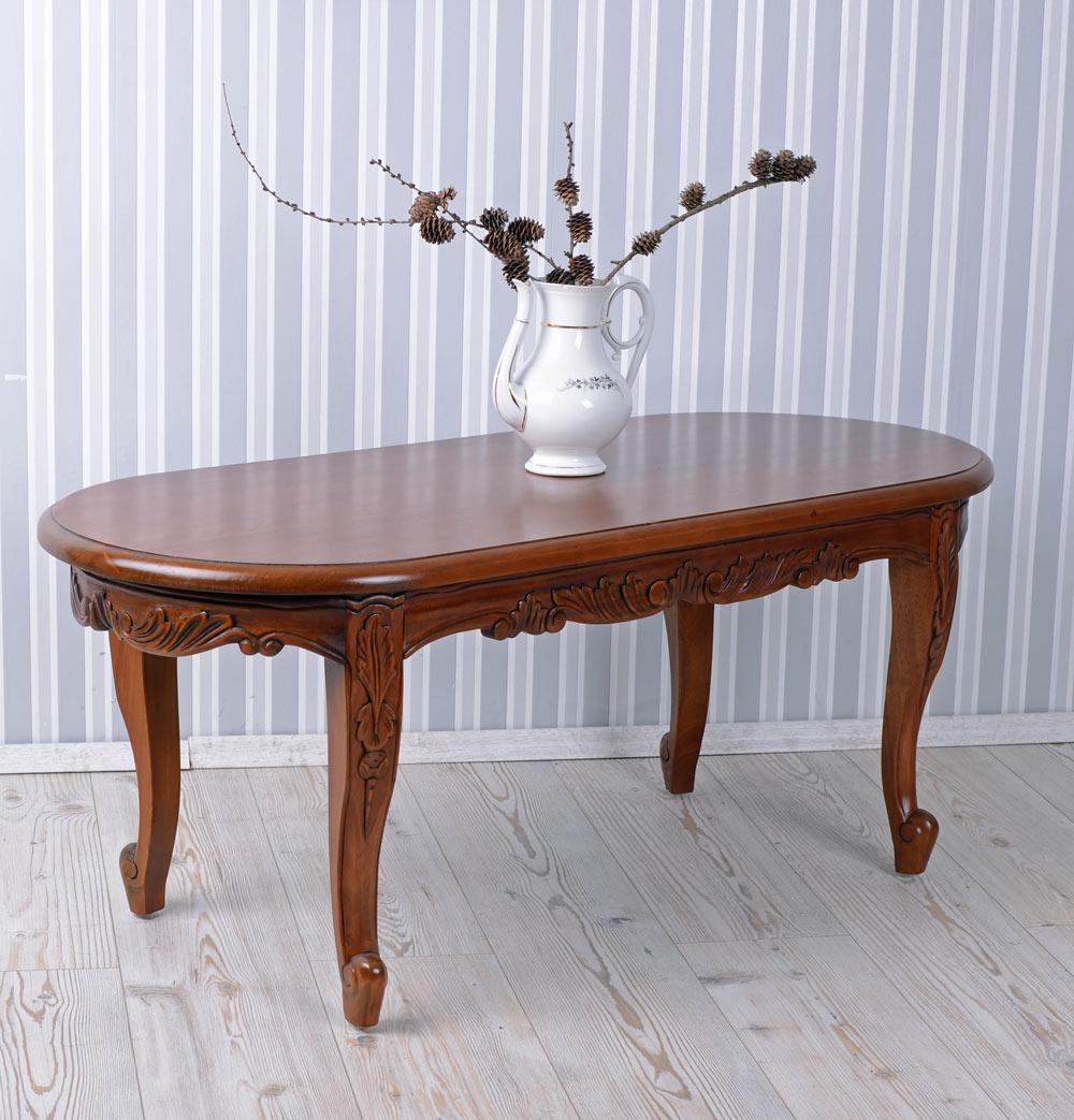 Wohnzimmertisch Antik Stil Massiv Mahagoni Holz Couchtisch Holztisch