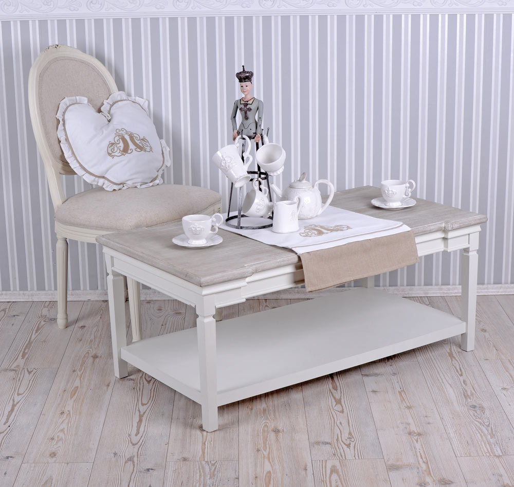 Table Basse Shabby Chic Table De Salon Blanc Table Table Basse Ebay