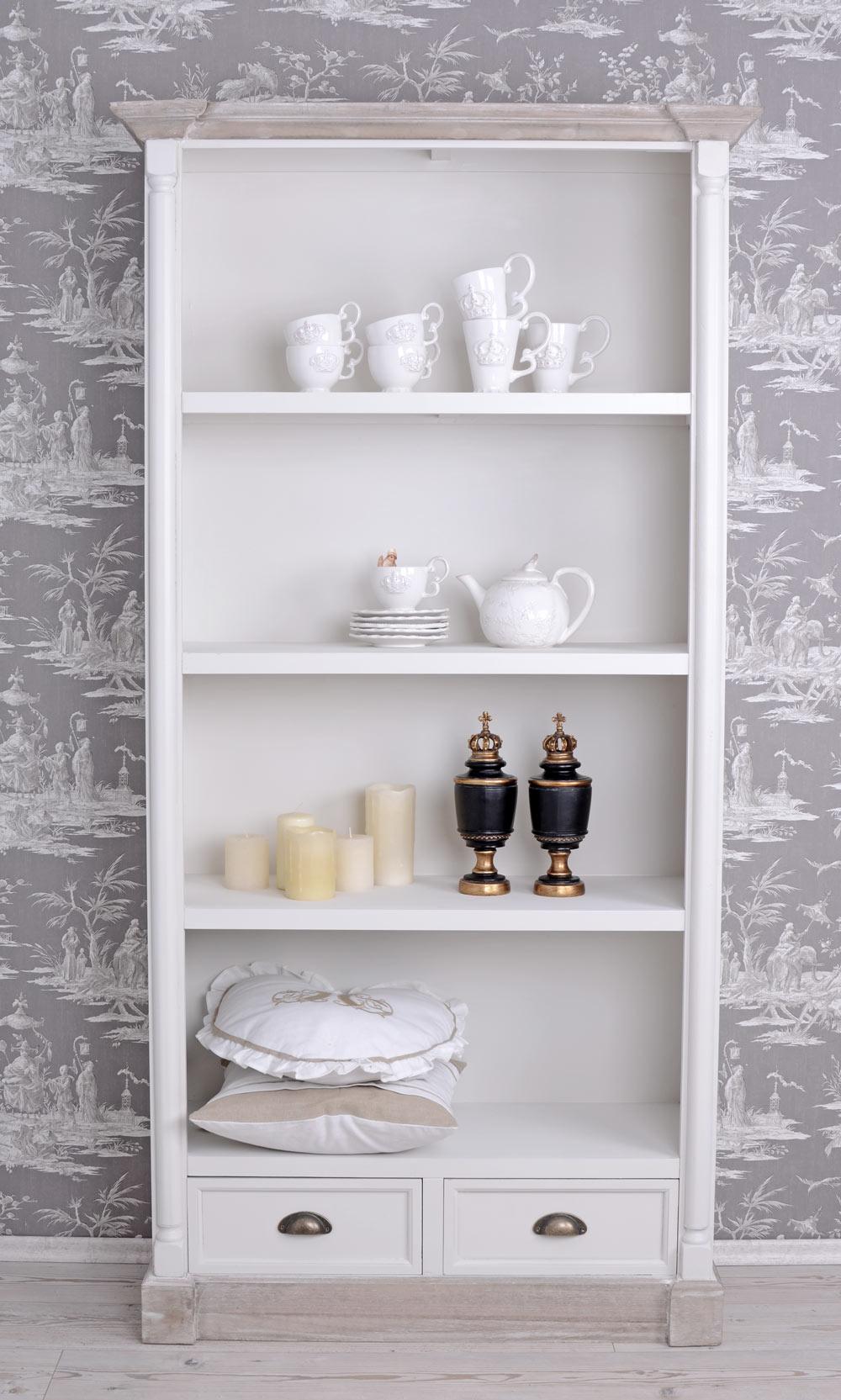 regal landhausstil b cherregal weiss b cherschrank vintage ebay. Black Bedroom Furniture Sets. Home Design Ideas