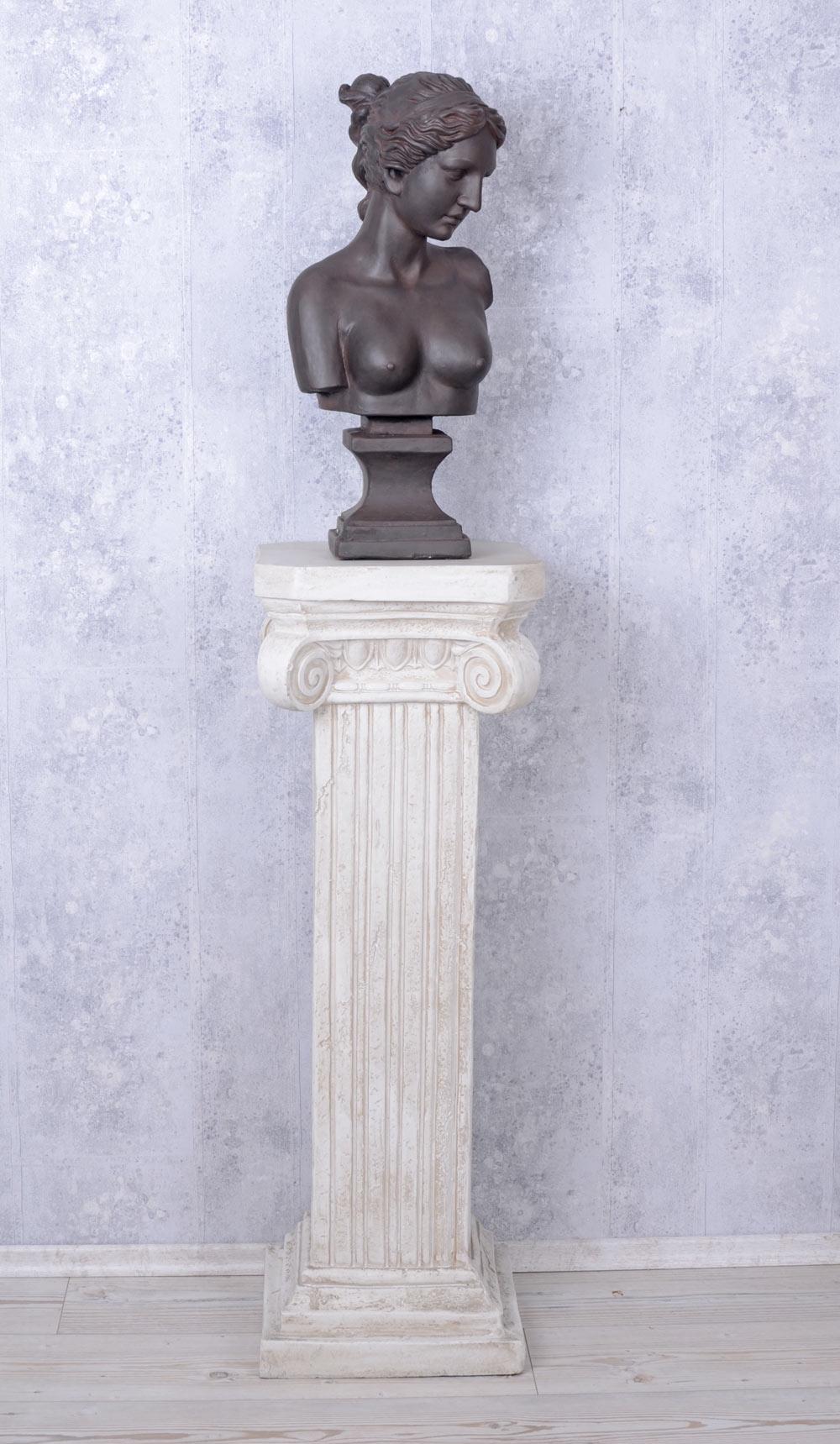 Détails sur Figure Féminine Buste Classique Statue Grecque Décoration de  Jardin Campagne