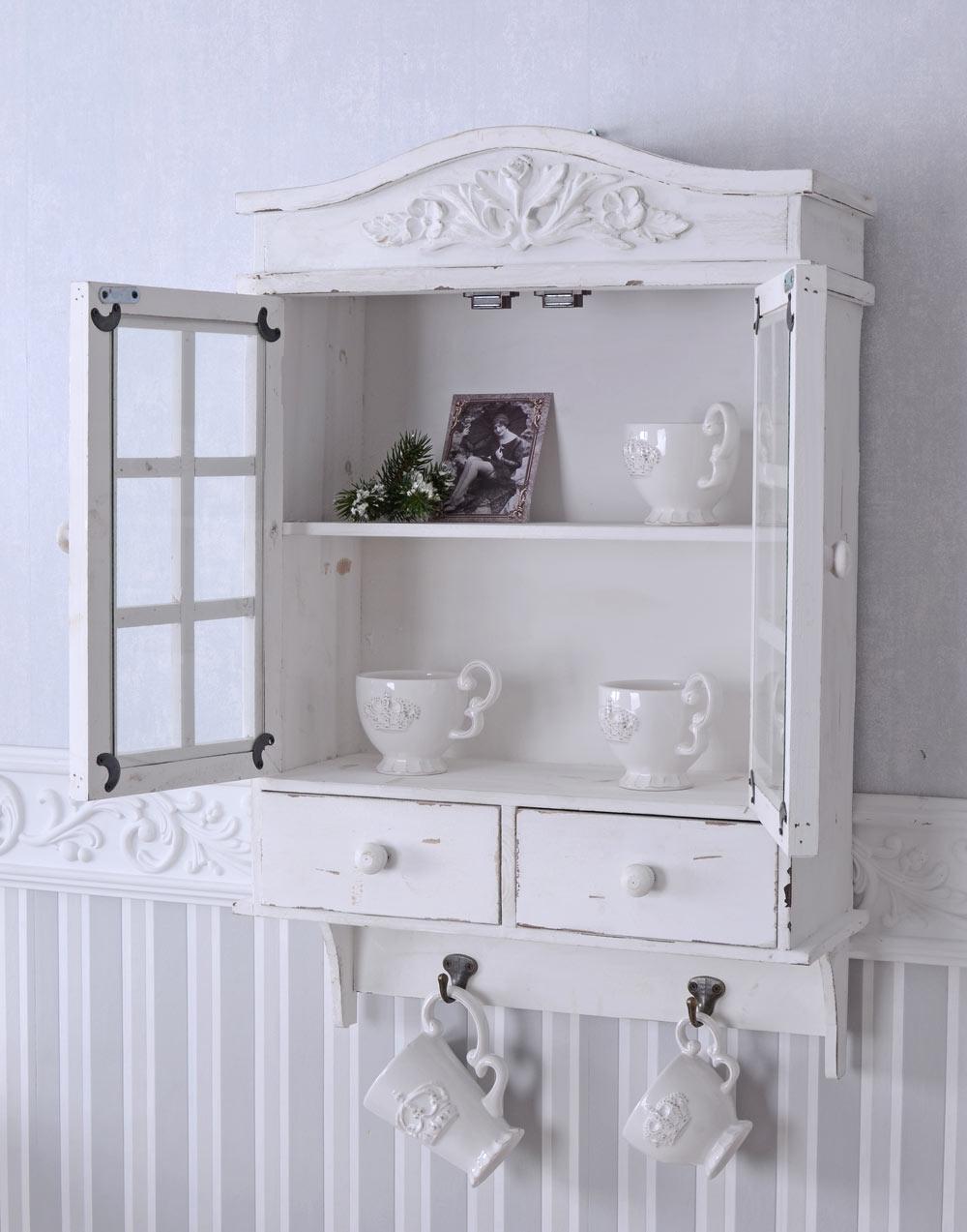 wandschrank handtuchhalter wandregal landhausstil k chenschrank antik stil holz ebay. Black Bedroom Furniture Sets. Home Design Ideas