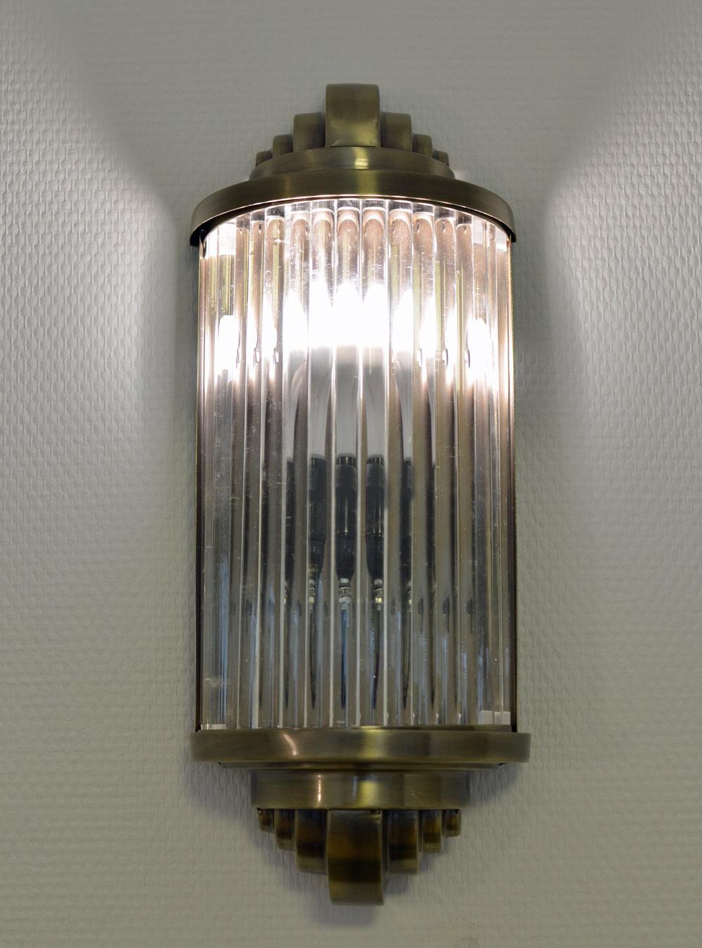 Art Deco Glasstäbchen Wandleuchte Bauhaus Lampe Wandlampe Antik Stil ...
