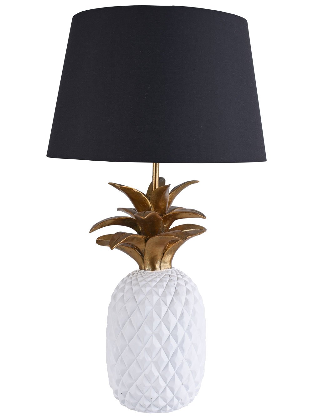 Pineapple Tischleuchte Ananas Gold Lampe Tischlampe Nachttischlampe Leuchte neu