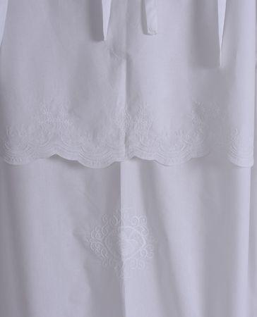 rideau shabby chic gardine suspendre boucle de rideau rideaux stores blanc ebay. Black Bedroom Furniture Sets. Home Design Ideas