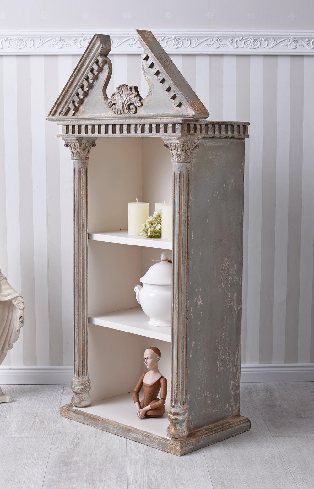Biblioteca antico scaffale mensola da bagno tavola muro pensile casa di campagna ebay - Mensola bagno ikea ...