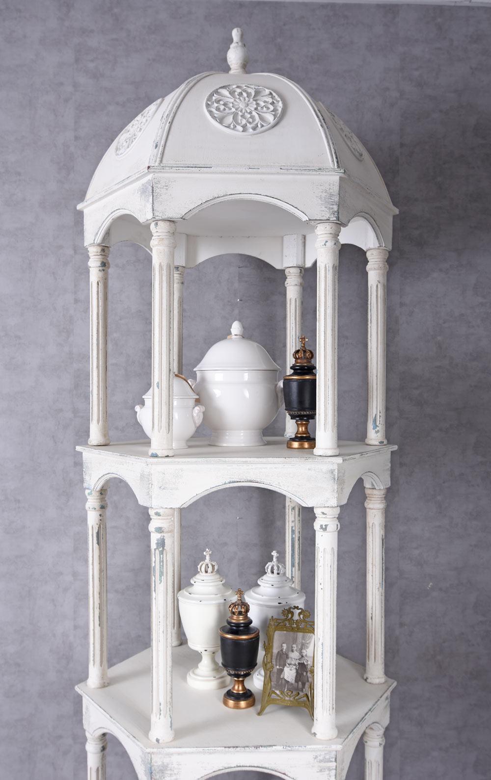 baldachin regal antik b cherregal regalschrank 245cm k chenregal raumteiler holz ebay. Black Bedroom Furniture Sets. Home Design Ideas