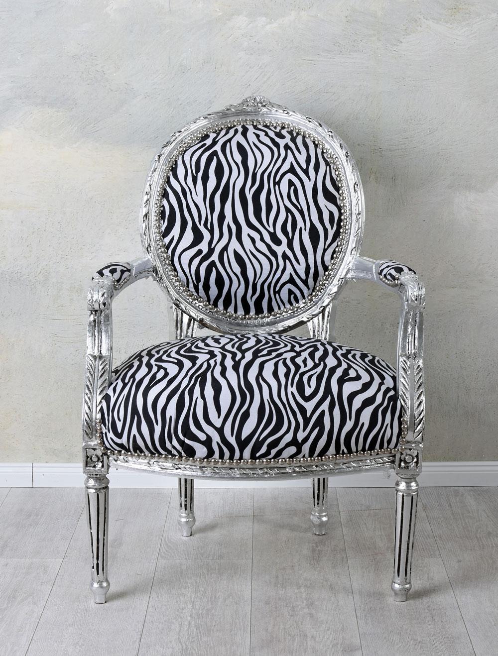 Silla de comedor vintage sillón barroco armlehnstuhl acolchado silla de madera silla silla