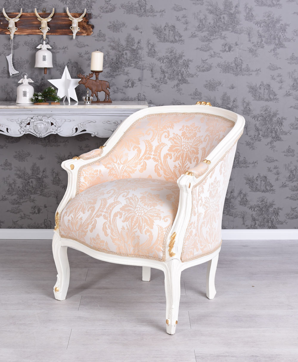 barock sessel frankreich shabby chic bergere sitzbank. Black Bedroom Furniture Sets. Home Design Ideas