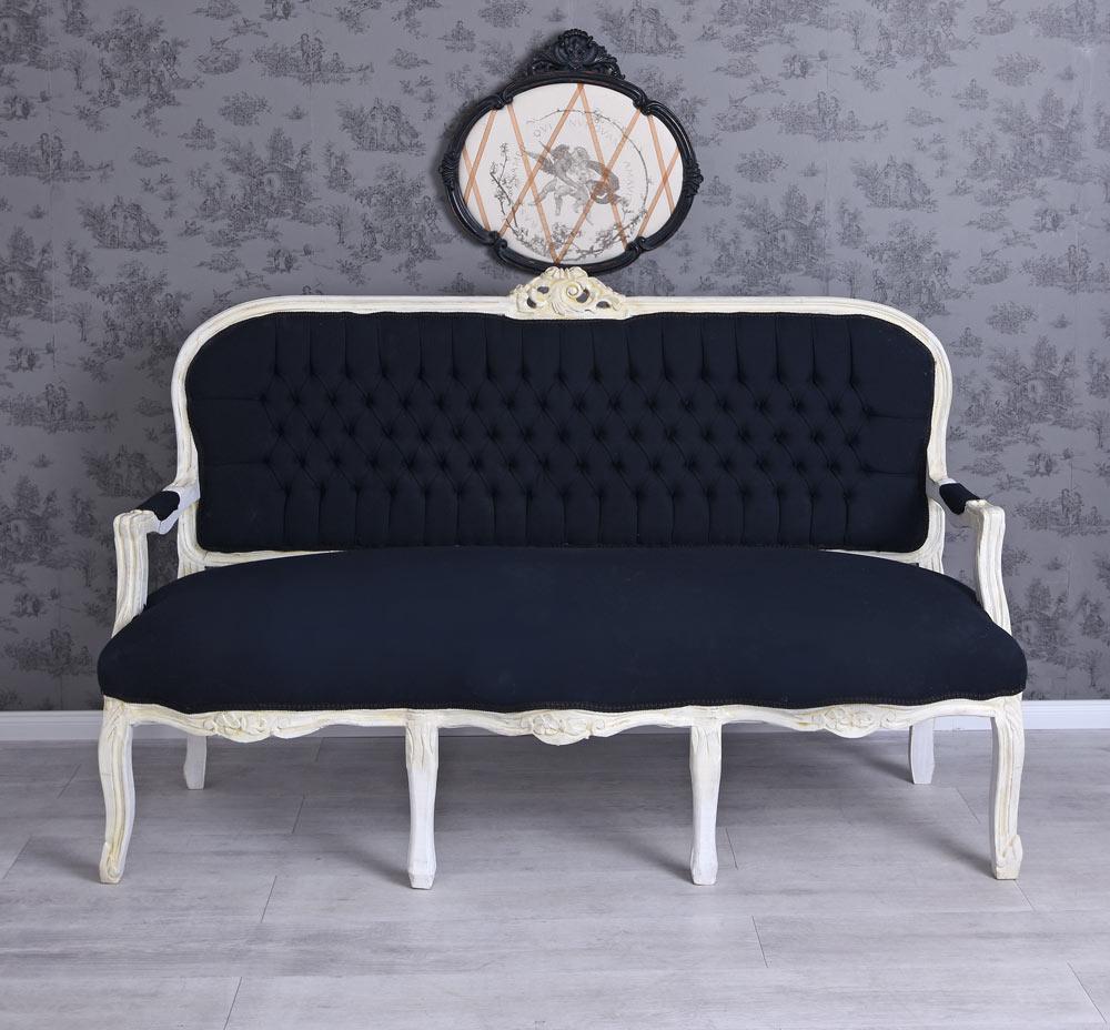 Sofa Barock Sitzbank Gold Sofabank Polsterbank Polstersofa Antik Couch Bank