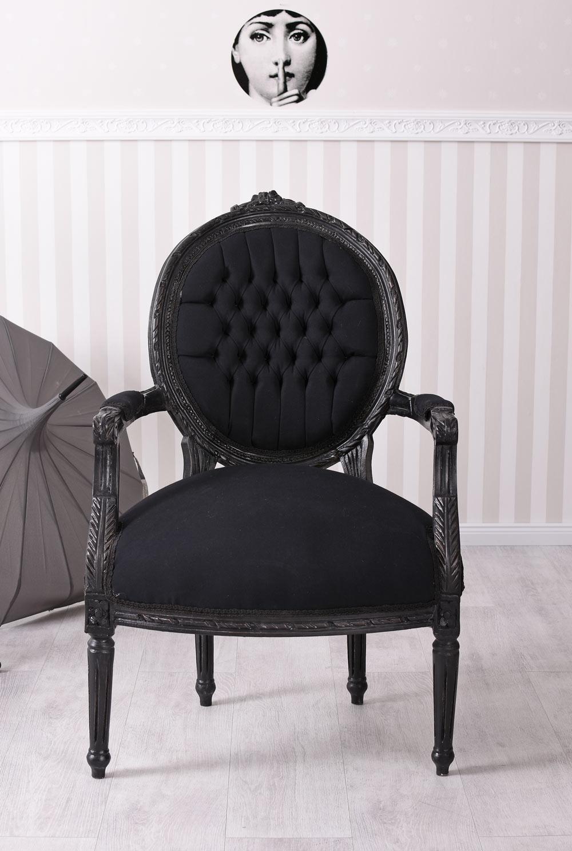 baroque chaise fauteuil accoudoirs de salle manger noir ebay. Black Bedroom Furniture Sets. Home Design Ideas