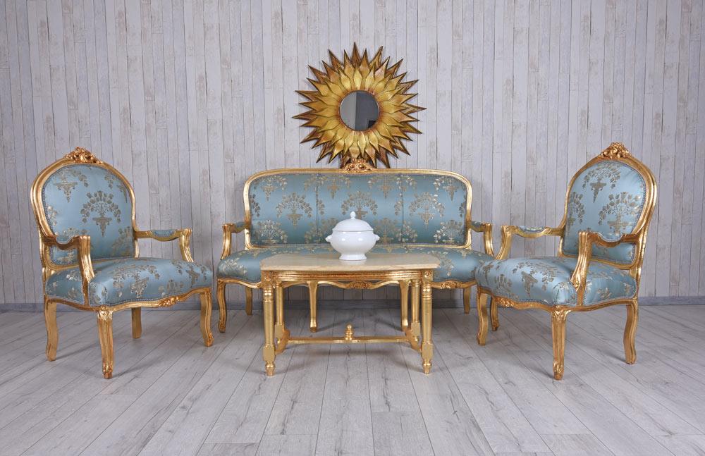 Détails sur Salon Sièges Baroque Meuble Antique Paysage Intérieur Ensemble  de Siège