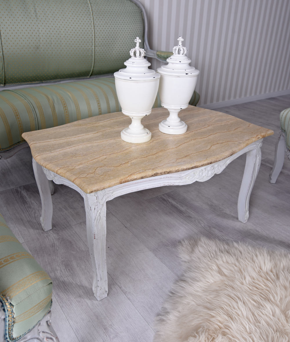 Living Room Baroque Seating Furniture & Coffee Table