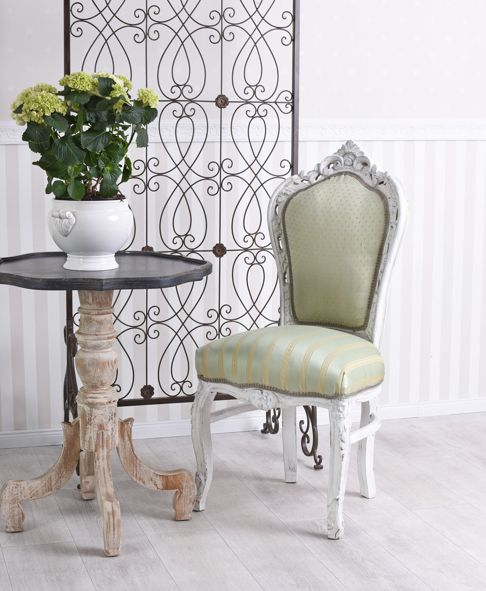 Kitchen Armchairs: Dining Chair Baroque Kitchen Upholstered Armchair