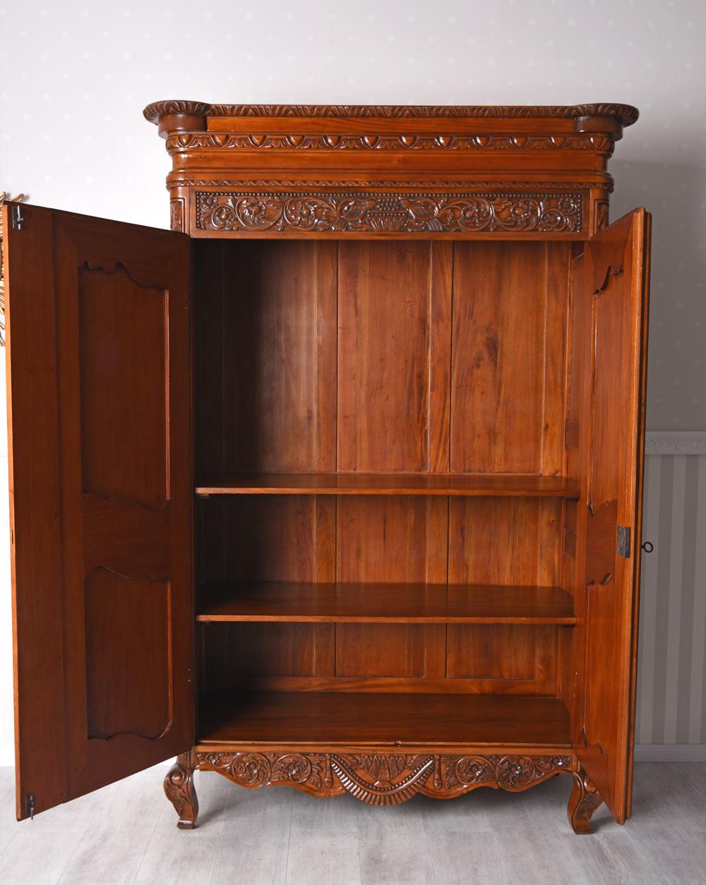 kleiderschrank xxl dielenschrank antik mahagoni schrank w scheschrank massivholz ebay. Black Bedroom Furniture Sets. Home Design Ideas