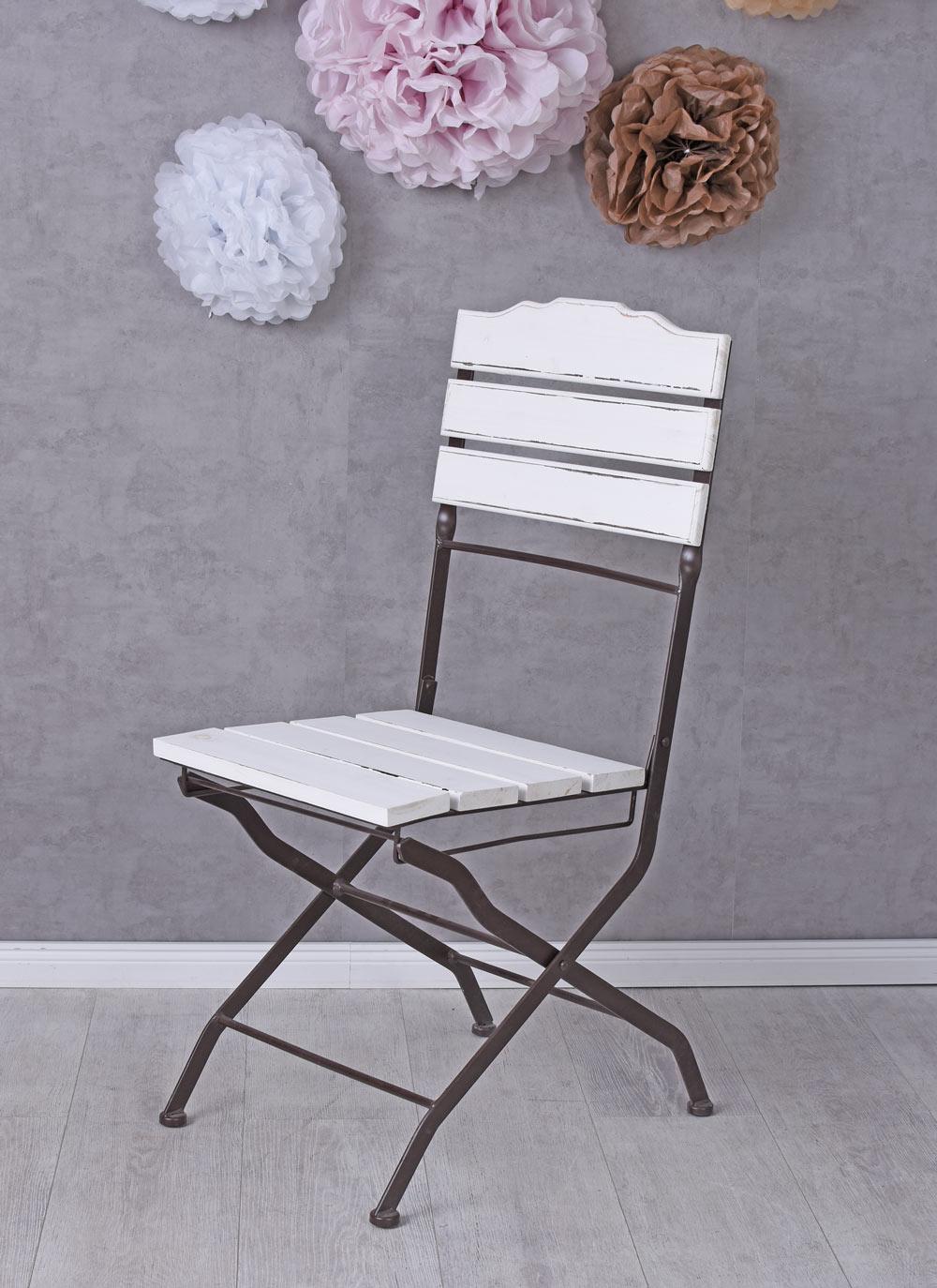 k chenstuhl shabby chic stuhl klappstuhl esszimmerstuhl gartenstuhl holzstuhl ebay. Black Bedroom Furniture Sets. Home Design Ideas