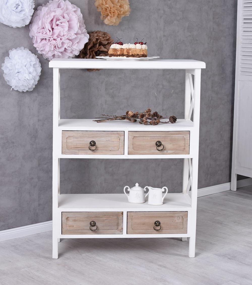 Dettagli su Mensola da cucina bianco armadio Freestanding stile country  Scaffale divisorio