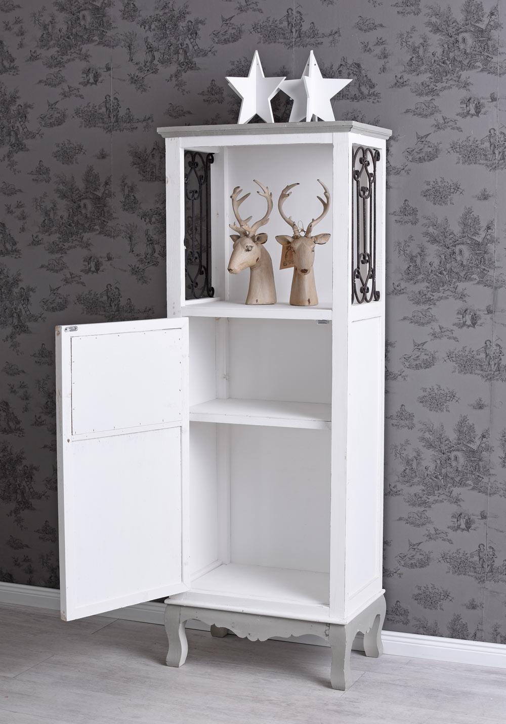 garderobenschrank holzschrank holzregal shabby chic badregal badezimmerschrank ebay. Black Bedroom Furniture Sets. Home Design Ideas