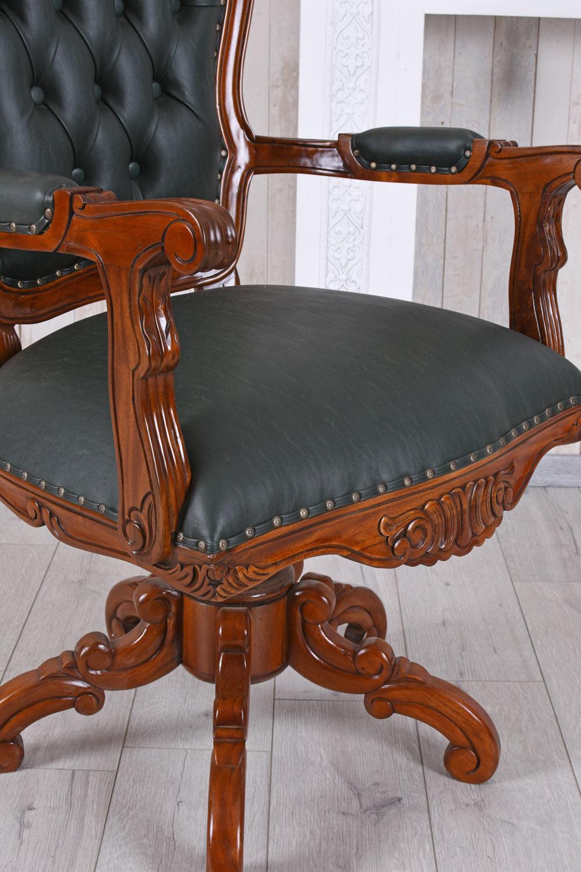 Ledersessel Vintage Bürostuhl Schreibtisch Stuhl Leder