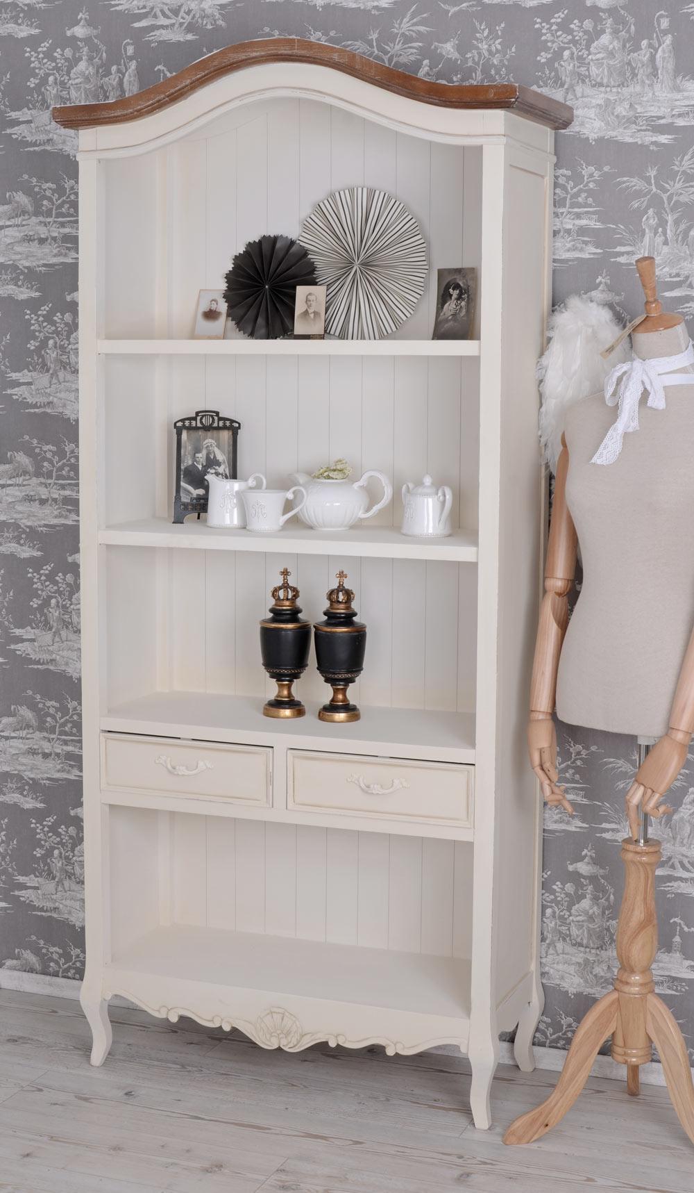 Vintage Regal Weiß : standregal landhaus regal weiss b cherregal wohnzimmer ~ Watch28wear.com Haus und Dekorationen