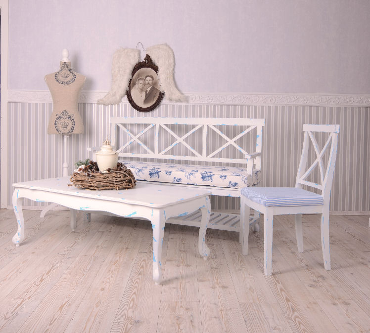 couchtisch weiss beistelltisch coffeetable landhaus tisch shabby wohnzimmertisch ebay. Black Bedroom Furniture Sets. Home Design Ideas