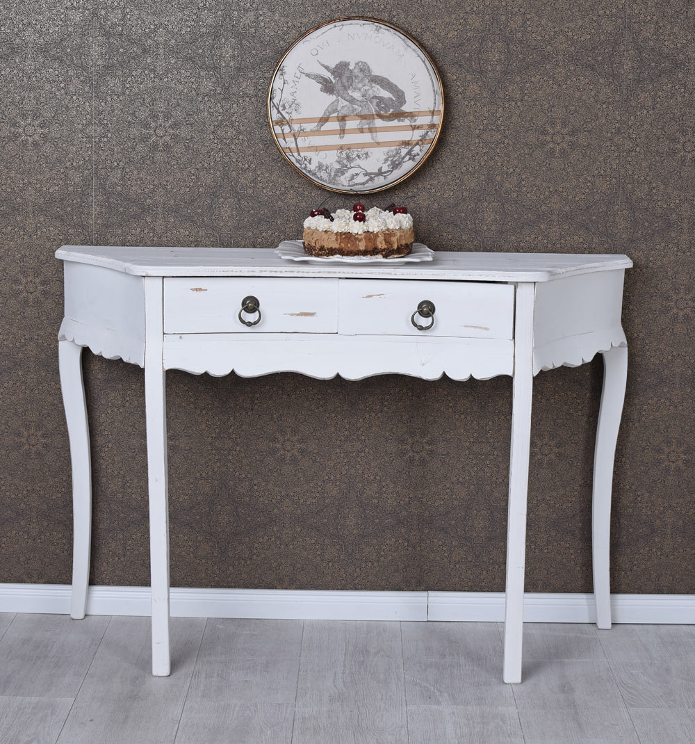schminktisch shabby chic frisiertisch beistelltisch konsole tischkonsole vintage ebay. Black Bedroom Furniture Sets. Home Design Ideas