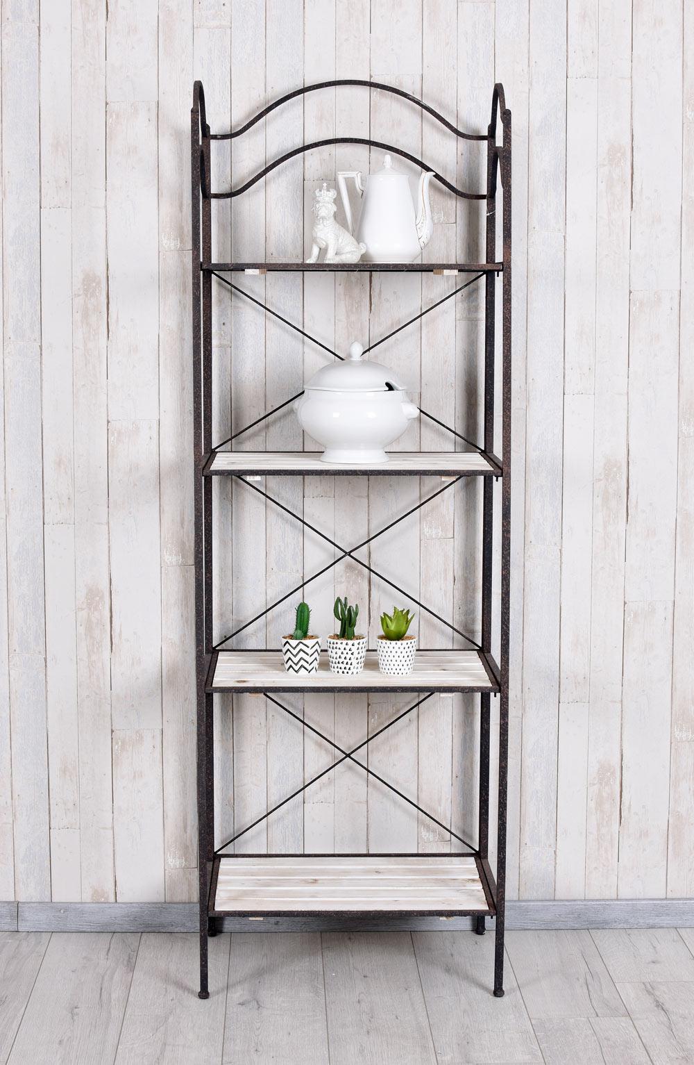 Dettagli su Armadio Freestanding Scaffale in legno mensola da cucina stile  country scaffale